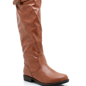 leather-riding-boots BLACK BROWN CHESTNUT - GoJane.com