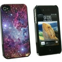 Graphics and More Fox Fur Nebula - Galaxy Space - Snap On Hard Protective Case for Apple iPhone 4 4S - Black - Carrying Case - Non-Retail Packaging - Black