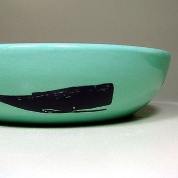 lo bowl whale (blue green) - Made to Order / Pick Your Colour