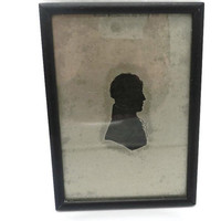 Male Framed Silver Silhouette By Anne Orr