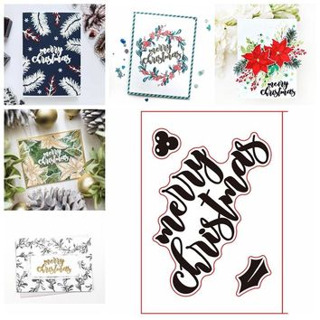 Word Merry Christmas Clear Stamps Set Seal for DIY Scrapbooking Album Stempels Silicone New 2018 Craft Decor Transparent