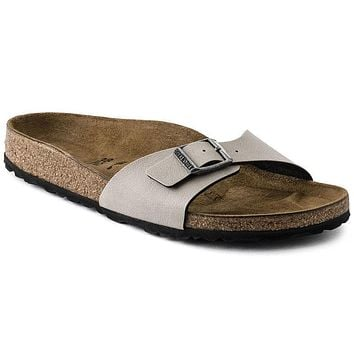 Best Online Sale Birkenstock Madrid Birko Flor Pull Up Stone 1003176/1003177 Sandals