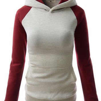 Women Trendy Hooded Thickening Patchwork Pullover Sweatshirt Hoodies
