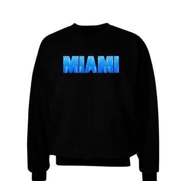 Miami Ocean Bubbles Adult Dark Sweatshirt by TooLoud