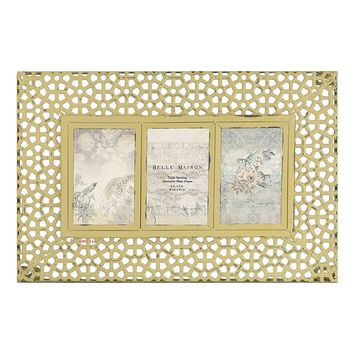 Belle Maison 3-Opening Metal Collage Frame (Yellow)