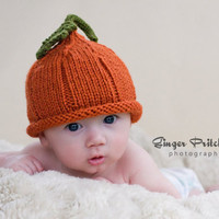 Pumpkin Pixie Hat NB to 24 mo sizes Cute Photography Prop