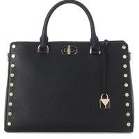 MICHAEL KORS SYLVIE STUDS BLACK TOTE BAG