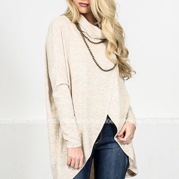 Oversize Wrap Cowl Sweater