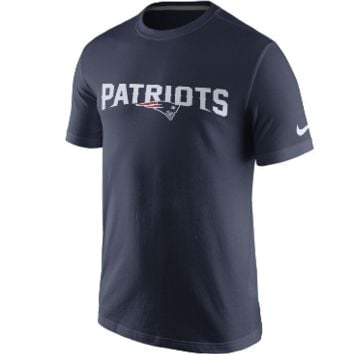 New England Patriots Nike NFL Men's Cotton Essential Wordmark T-Shirt