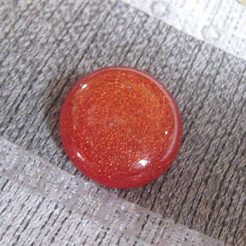 Dichroic Glass Tie Tack, Red Orange - Dichroic Scarf Pin - Rojo - 011
