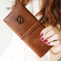 Personalized Wallet, Leather Wallet, Womens Wallet, Women Wallets, Monogram Clutch, Monogram Bag, Engraved Wallet, Womens Wallets, Purse
