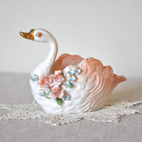 Vintage Norcrest Swan Dish by CollectiveHeart on Etsy