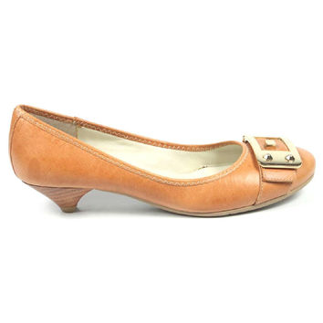 Nine West Womens Heeled Ballerina NWUPGRADEYA LIGHT NATU