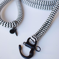 The Heritage Collection Black & White Leash | Big Dog