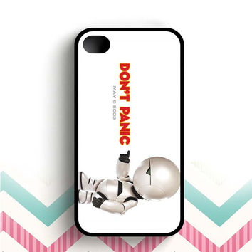 Hitchhikers Guide to the Galaxy Robot  iPhone 4 and 4s case
