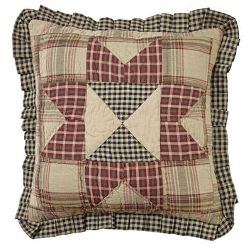 Plymouth Quilted Ruffled Pillow
