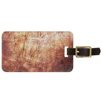 Cool Red Rust texture Background Bag Tag