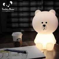 Online Shop Ins Hot Creative Line Friend Brown Bear Cony Rabbit Night Light Silicone Bedside Lamp Bedroom Lamp Desk Lamp Free Shipping | Aliexpress Mobile