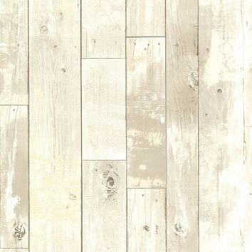 Brewster Wallpaper 2686-20283 Ashwile Taupe Wood