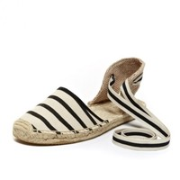 Sandal - Black White Closed Espadrilles for Women from Soludos - Soludos Espadrilles