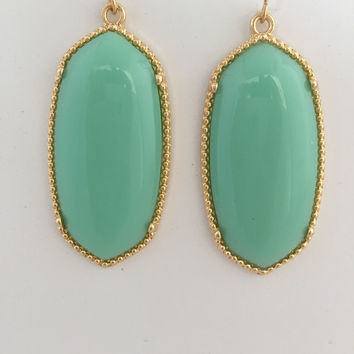 Alle Earrings In Mint