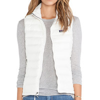 Patagonia Down Sweater Vest in Ivory