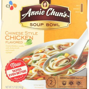 ANNIE CHUN'S: Chinese Chicken Soup Bowl Mild, 5.7 oz