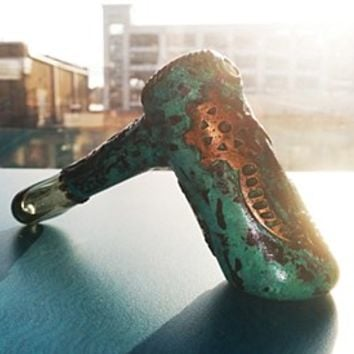 Shipwreck Liberty Glass Collaboration Electroformed Hammer Dry Pipe