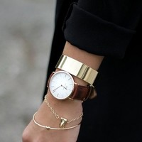 Clothes Online | CLASSIC BRISTOL IN ROSE GOLD || DANIEL WELLINGTON - WOMEN - ACCESSORIES - BAZAAR