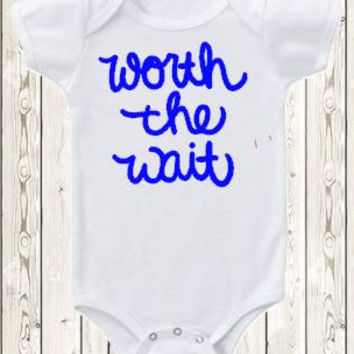 Worth The Wait New Baby Onesuit Going Home Home Outfit Baby Shower Gift Pregnancy Announcement Onesuit ® Brand Bodysuit New Baby Announcement