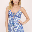 The Jetset Diaries Indigo Jungle Romper