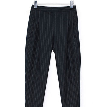 Vertical Stripes Wool Trousers