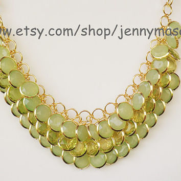 Translucent Green Jewelry Wedding Necklace Bridesmaid Gift - Bubble Statement Necklace,Mermaid Necklace ,Turquoise necklace
