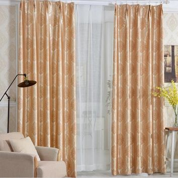 Custom Made European Thicking Jacquard Blackout Window Curtain Drape For Bedroom Window Blind Floral Fabric
