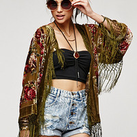 Saltwater Gypsy Stone Rose Kimono at PacSun.com