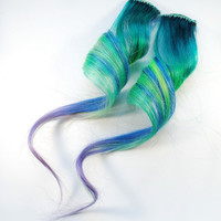 Seafoam / Human Hair Extension / Turquoise Blue by MissVioletLace