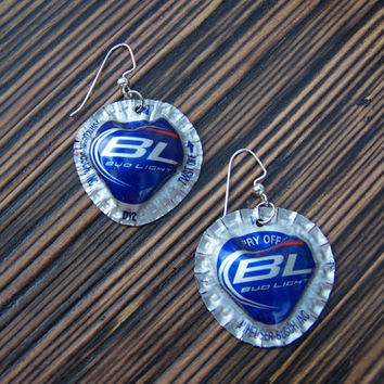 Bud Light Bottle Cap Bead with matching earrings