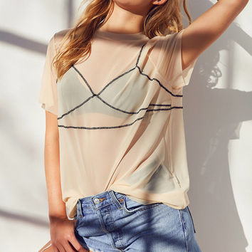 Out From Under Illusion Mesh Tee Slip | Urban Outfitters