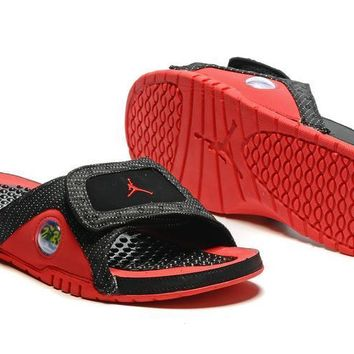Nike Jordan Hydro XIII Black/Red Sandals Slipper Shoes Size US 7-13