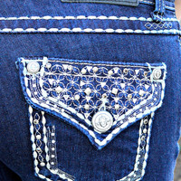 GRACE IN L.A. STARRY NIGHT STRAIGHT JEANS