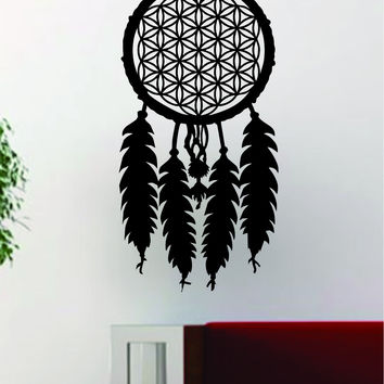 Dreamcatcher Flower of Life Quote Decal Sticker Wall Vinyl Art Decor Home Namaste