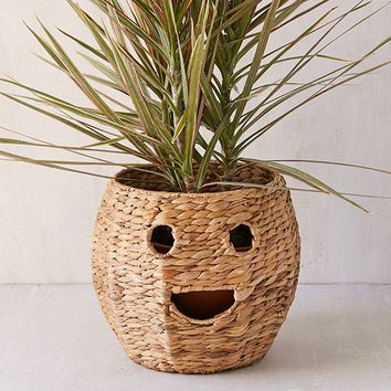 Happy Woven Rattan Planter Cover | Urban Outfitters
