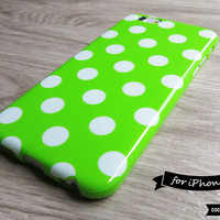 Lime Polka Dot iPhone 6 Case - CocoonByWanderlustique