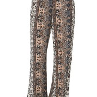LA Hearts Smocked Waist Palazzo Pants - Womens Pants - Multi