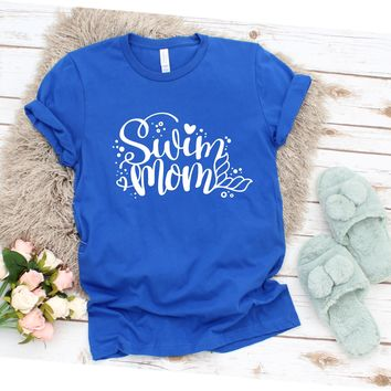 Swim Mom - Ruffles with Love Tee