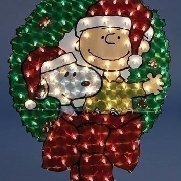 Peanuts Christmas Yard Art - 100 Mini Lights