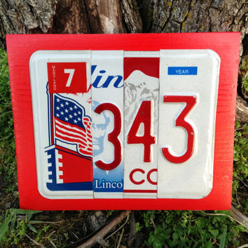 343 Custom Firefighter 9/11 FDNY Three Forty Three Recycled License Plate Art Sign