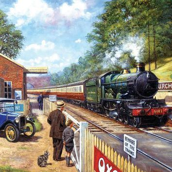 Trainspotting with Grandpa 1000pc Jigsaw Puzzle