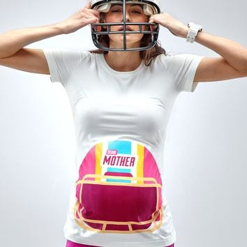 Team Mother Maternity Baseball T-Shirt