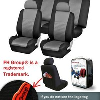 FH-FB060 Trendy Elegance Car Seat Covers, Airbag compatible and Split Bench, Gray / Black color (corresponds to model no. FH-FB060115 on manufacturer site)
